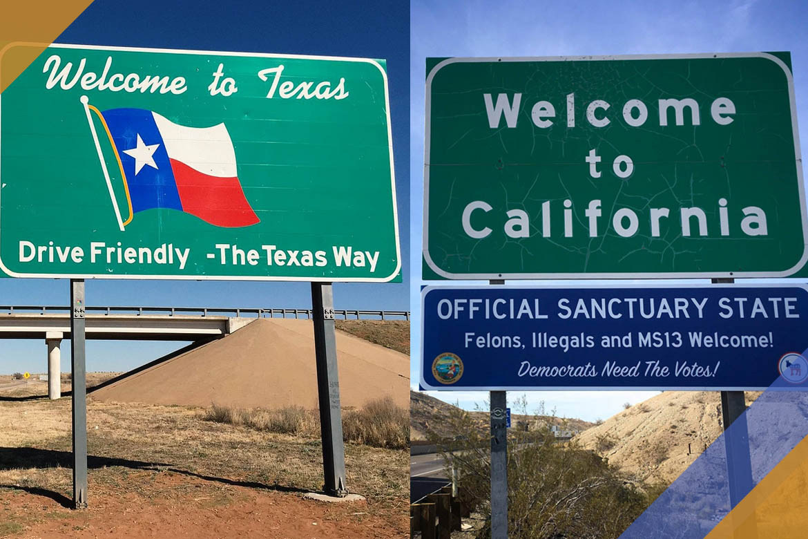 Moving from Texas to California